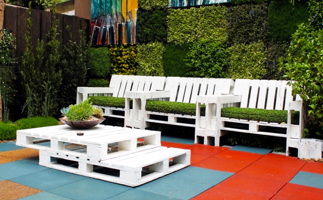 How To Make Garden Furniture Made From Pallets diy patio furniture with pallets. pallets lounge pallet ideas