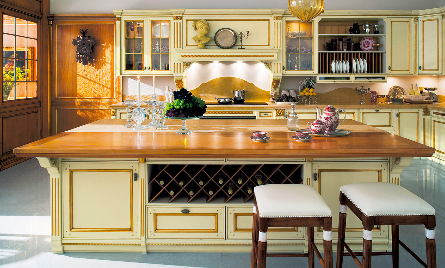 astonishing-cream-color-wooden-italian-kitchen-cabinets-design-rectangle-shape-kitchen-island-with-single-door-cabinets-wine-storage-rack-mounted-italian-kitchen-cabinets-with-glass-door