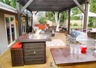 backyard kitchen designs ideas for backyard landscaping ideas to build small kitchen backyard design with outdoor fire pit table kitchen island