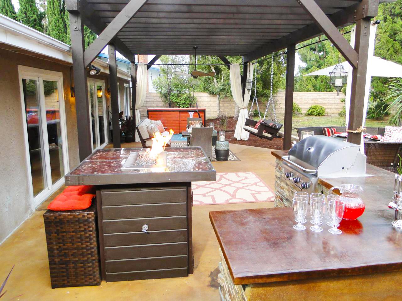 Backyard Kitchen Designs Ideas For Backyard Landscaping Ideas To