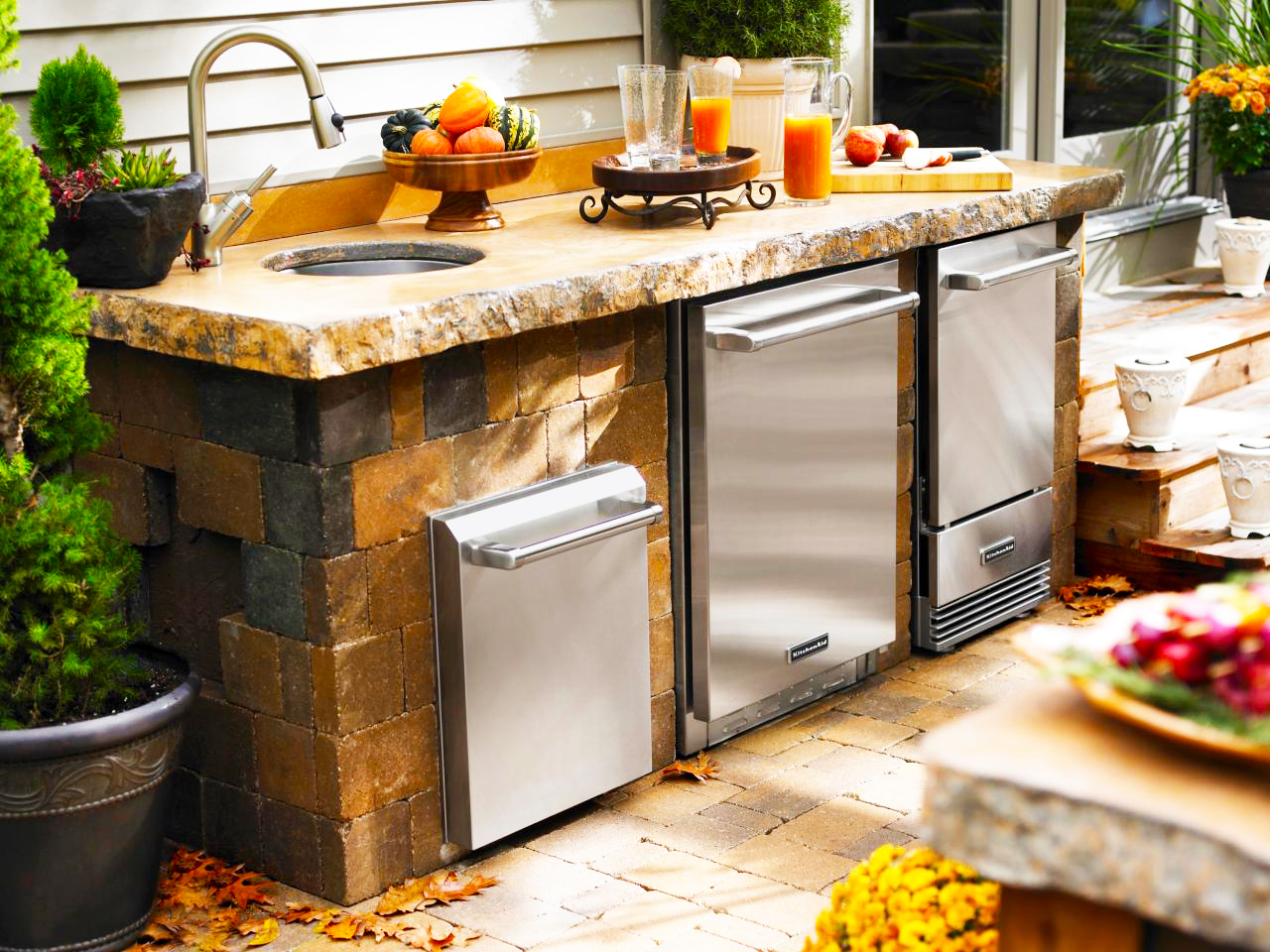 Backyard Kitchen Best Backyard Kitchen Designs Roy Home Design