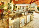 backyard kitchen designs ideas with black granite countertops design in small backyard design