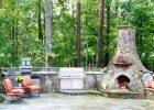 backyard kitchen designs ideas with fireplace outdoor kitchen grills and backyard landscaping ideas to build bbq grill