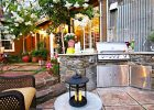 backyard kitchen designs ideas with outdoor kitchen grills for small backyard design photos and outdoor kitchen plans