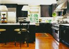 black kitchen cabinets doors refacing ideas with quartz countertops island and aluminium kitchen sink for modern shaker kitchen cabinets