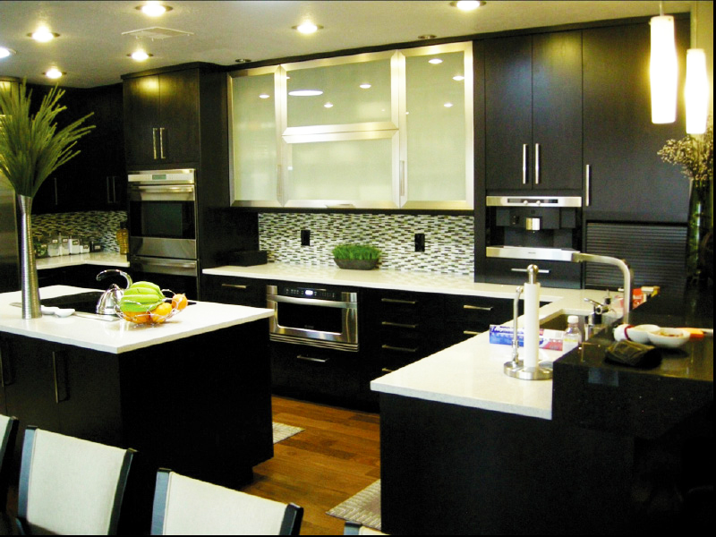 kitchen cabinet ideas with black appliances photos cabinets modern doors refacing cheap pictures