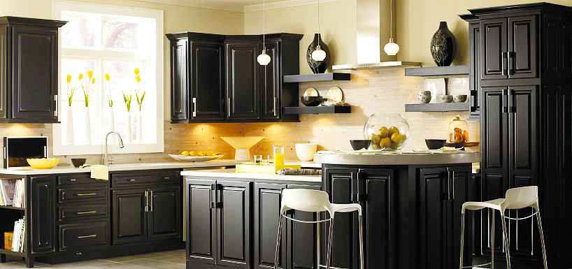 furniture for kitchen cabinets custom black kitchen cabinets roy home design 15681