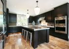 black kitchen cabinets ideas with large kitchen island with granite countertops in best modern diy shaker black kitchen cabinets