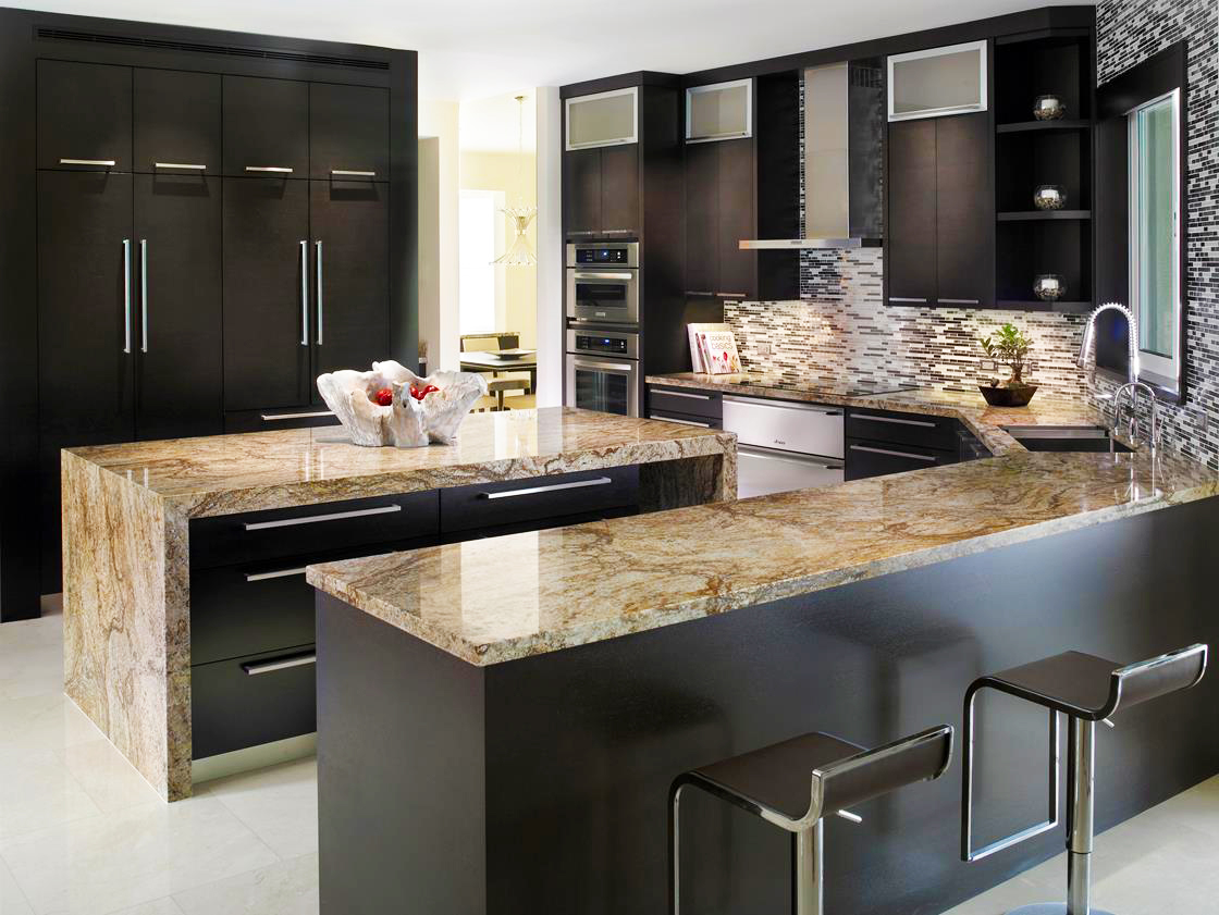 black-kitchen-cabinets-ideas-with-quartz-countertops-kitchen-island-design-for-modern-black-shaker-kitchen-cabinets-doors-refacing