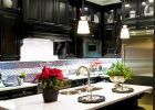 black-kitchen-cabinets-ideas-with-white-quartz-granite-island-with-double-kitchen-sink-ideas-and-cheap-black-kitchen-cabinets