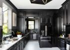 black kitchen cabinets in glossy black kitchen cabinet doors refacing with modern black glossy kitchen cabinets refinishing