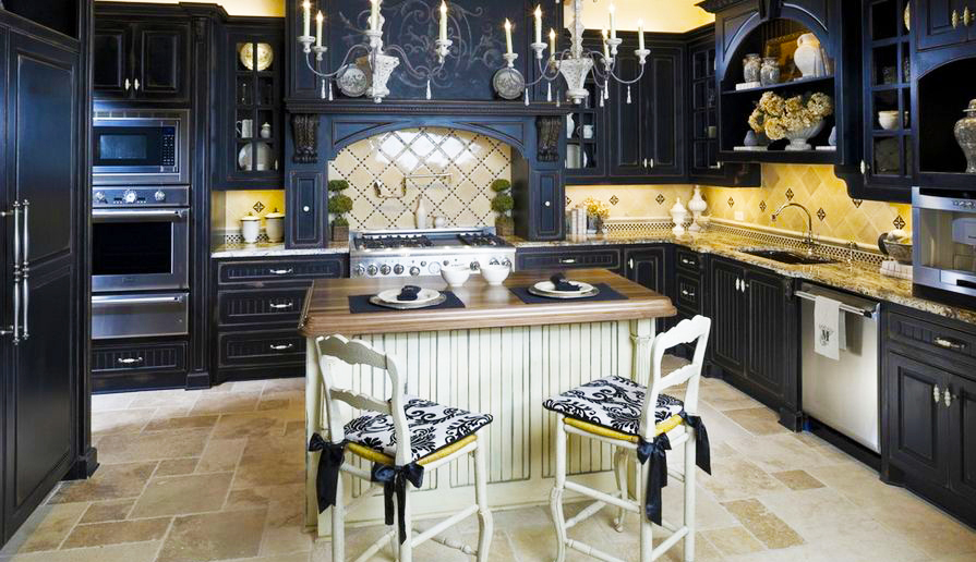 black-kitchen-cabinets-in-traditional-kitchen-black-cabinets-white-island-design-for-best-cheap-black-kitchen-cabinets-doors-refacing