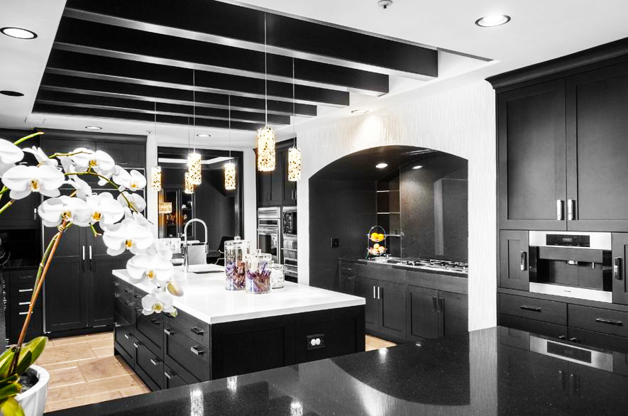 black-kitchen-cabinets-with-a-quartz-countertop-for-island-in-modern-black-kitchen-cabinets-design