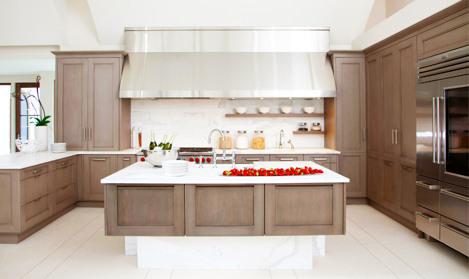 contemporary-kitchen-cabinets-grey-wash-kitchen-cabinets-with-wood-kitchen-cabinets-finishing-ideas-with-large-rectangle-kitchen-island-with-white-countertops