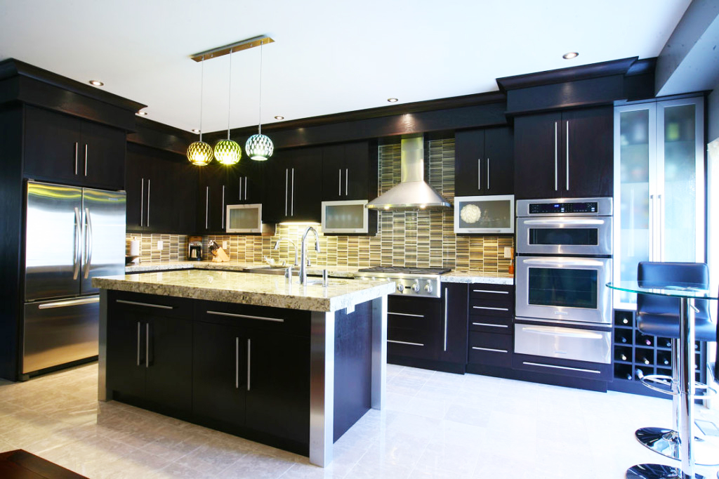 contemporary-kitchen-cabinets-remodel-design-ideas-in-black-wood-kitchen-cabinets-pictures
