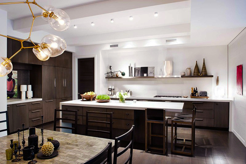 contemporary-kitchen-designs-ideas-with-black-modern-kitchen-cabinets-designs-and-large-rectangle-kitchen-island-also-white-countertops-designs