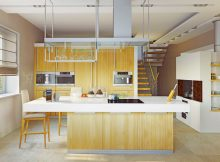 contemporary-kitchen-designs-light-wood-kitchen-island-with-white-countertops-ideas-and-wooden-contemporary-kitchen-cabinet-designs