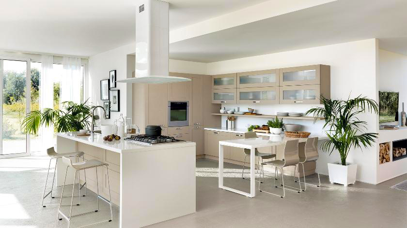 contemporary-kitchen-designs-modern-white-kitchen-with-wood-kitchen-cabinet-designs-and-plants-for-green-kitchen-decor-ideas-to-remodeling-glass-kitchen-cabinet-designs