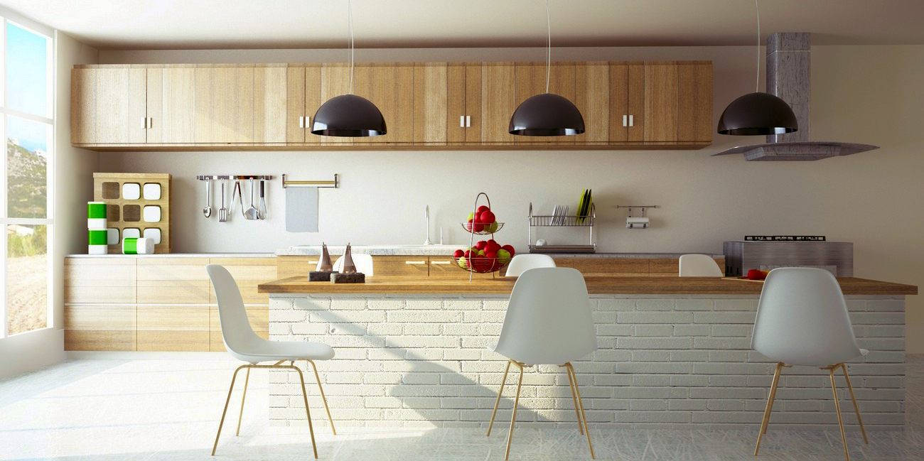 contemporary-kitchen-designs-modern-white-wood-kitchen-cabinets-decorating-mix-with-black-pendant-lights-decorations-on-the-luxury-kitchen-island-designs
