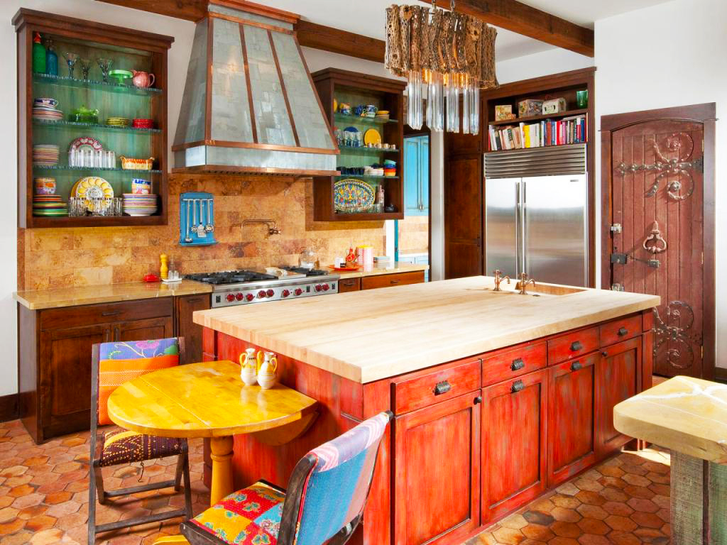 cost-to-remodel-kitchen-backsplash-brown-tiles-in-small-Mediterranean-Kitchen-remodel-ideas-in-average-cost-remodeling-kitchen