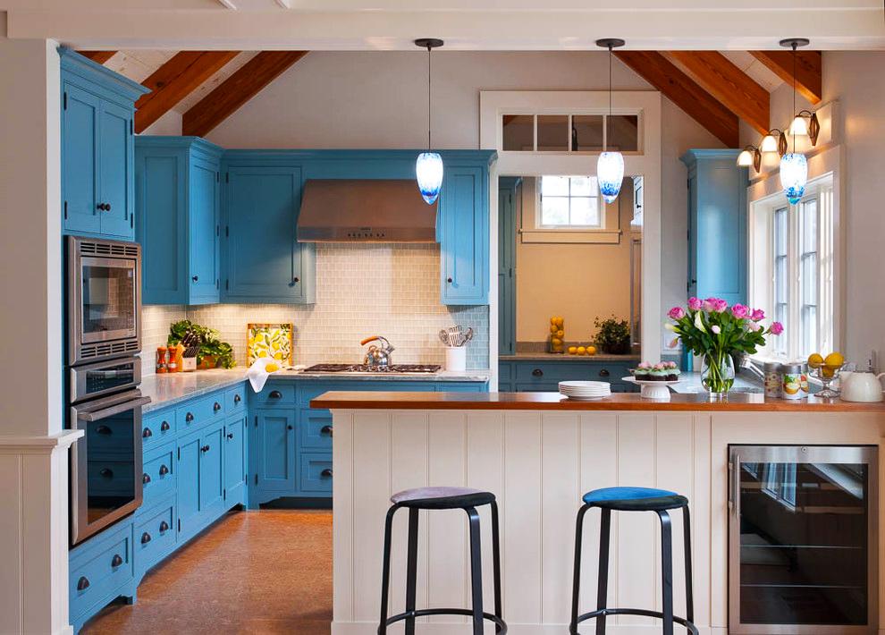 cost-to-remodel-kitchen-backsplash-for-white-kitchen-backsplash-tile-mix-with-blue-kitchen-cabinets-remodeling-boston-kitchen-beach-style-with-cork-tile-floor-cork-tile-floor