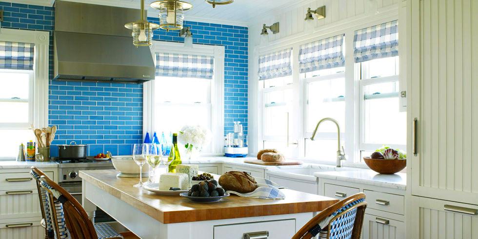 Cost To Remodel Kitchen Backsplash With Blue Bricks