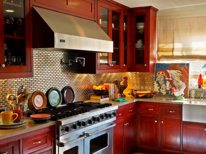 cost-to-remodel-kitchen-backsplash-with-mosaic-metal-kitchen-backsplash-with-red-wood-cabinets-for-kitchen-backsplash-ideas-for-average-cost-remodeling-kitchen