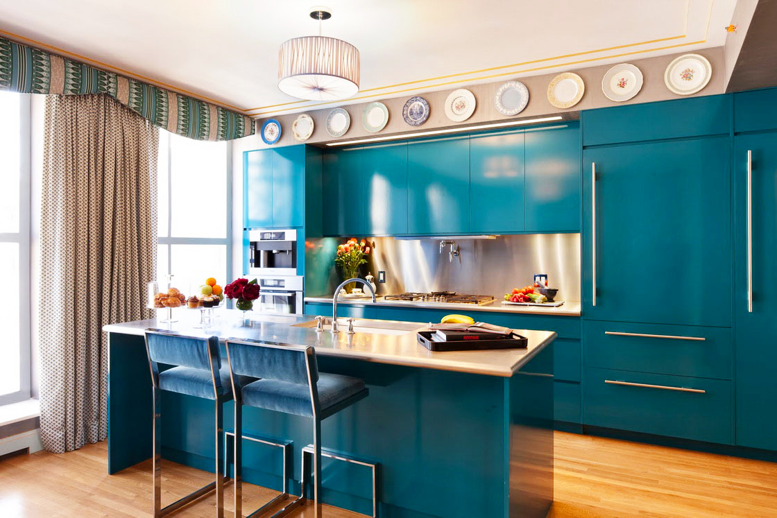 cost-to-remodel-kitchen-for-Captivating-Plate-Wall-Ornament-Mixed-With-Cool-Turquoise-kitchen-cabinet-designs-In-average-Kitchen-Remodel-Cost