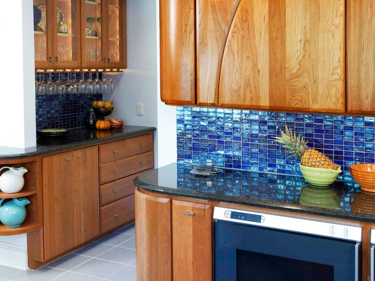 Cost To Remodel Kitchen With Blue Backsplash For Small Kitchen Remodel In Average Cost
