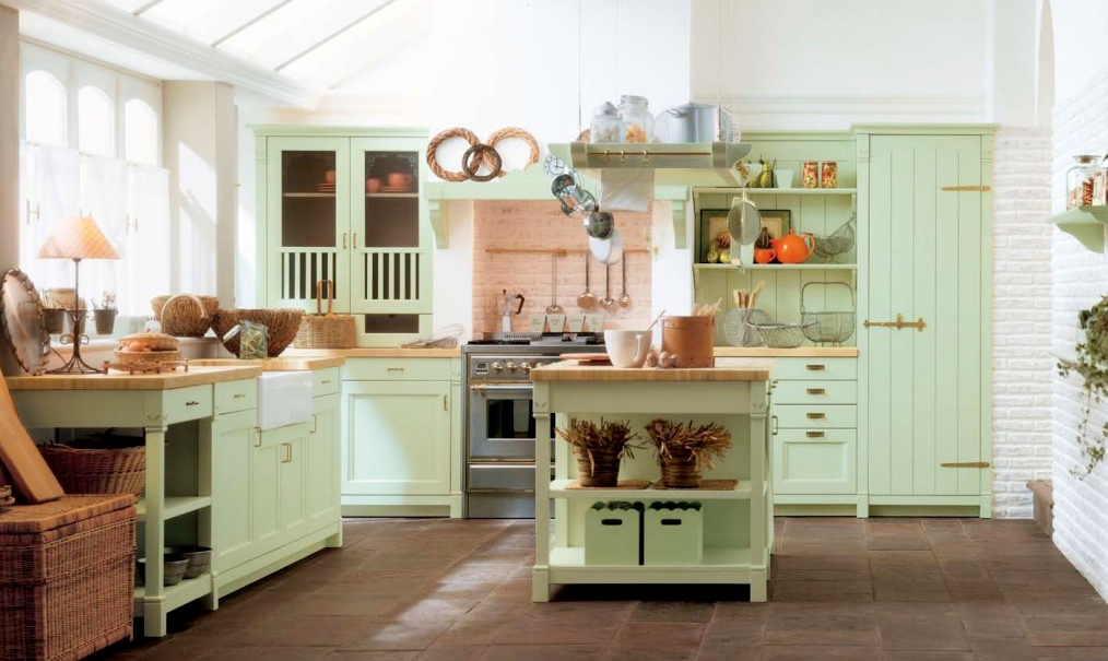country-kitchen-design-from-oak-kitchen-design-with-kitchen-island-designs-wth-mint-green-country-kitchen-decor-and-country-custom-kitchen-design-ideas