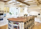 country kitchen design in French Country Kitchen Decor Ideas with large kitchen island designs and pendant lights by oak kitchen cabinets