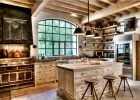 country kitchen designs ideas white washed rustic wooden kitchen island designs above the pendant lights ideas with white wooden kitchen cabinet designs