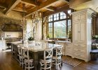 country kitchen designs ideas with large luxury wooden dining table designs with oak wooden kitchen cabinet designs with pedant lights decor mix wood beam ceiling