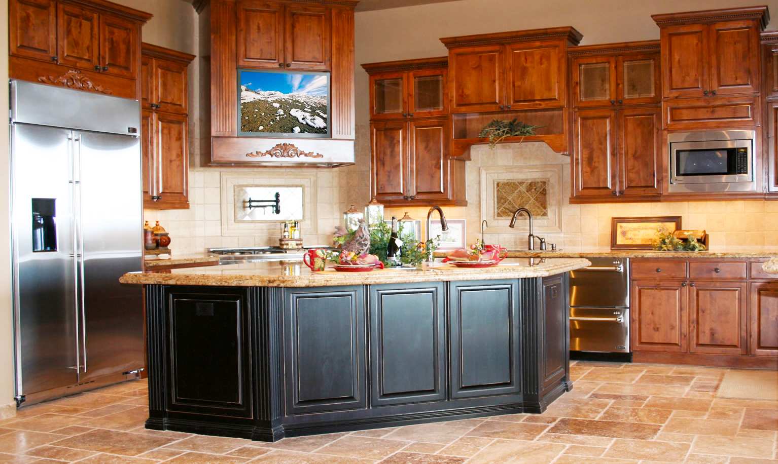 custom-kitchen-cabinets-for-new-kitchen-remodel-design-with-black-oak-kitchen-island-and-kitchen-cabinet-doors-refacing