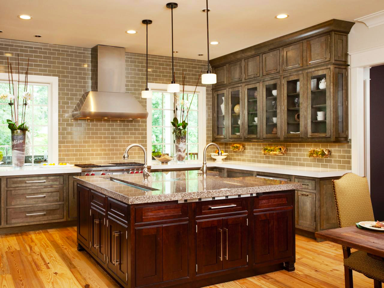 custom-kitchen-cabinets-remodel-design-with-large-square-wood-kitchen-island-quartz-countertops-also-modern-metal-kitchen-sink