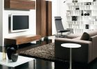 furniture for modern house for modern living room furniture ideas with dark flooring and modern dark brown sectional sofa with rug area for cozy living room interior