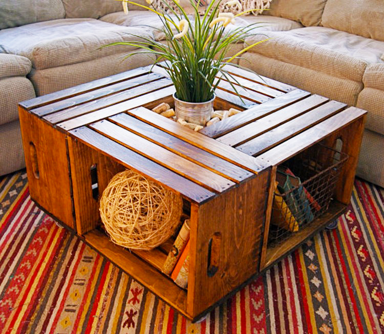 furniture-ideas-from-wood-Pallet-and-Crate-Coffee-Table-with-storage-and-rustic-decor-for-living-room-wood-pallet-furniture