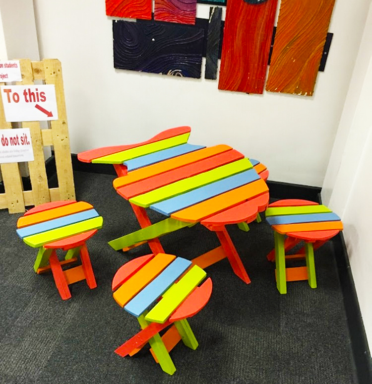 kids-pallet-furniture-how-to-make-colorfull-dining-table-set-for-kids-furniture-ideas