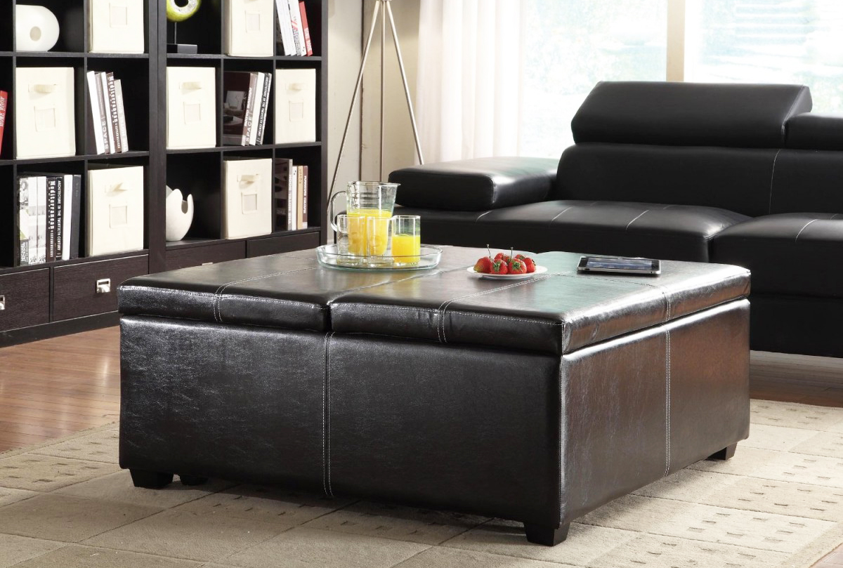 Leather Furniture Black Leather With Coffee Table Black