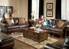 leather furniture for living room furniture leather sofas and wood rustic coffee table in luxury home furniture decorations