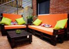 modern Outdoor to make cozy wooden outdoor patio furniture sets with warml color schemes with black outdoor furniture diy oranged cushioned black pallet sofa