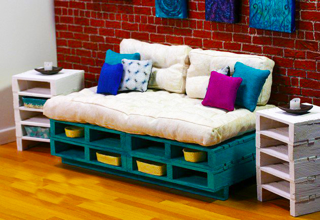 sofa ideas from pallet roy home design. Black Bedroom Furniture Sets. Home Design Ideas
