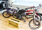pallet storage furniture for bmx bike rack in the bikes stores from wood pallet bike rack as storage solution ideas for store bike display