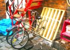 pallet storage furniture from pallet jack as an alternative storage ideas for pallet bike racks