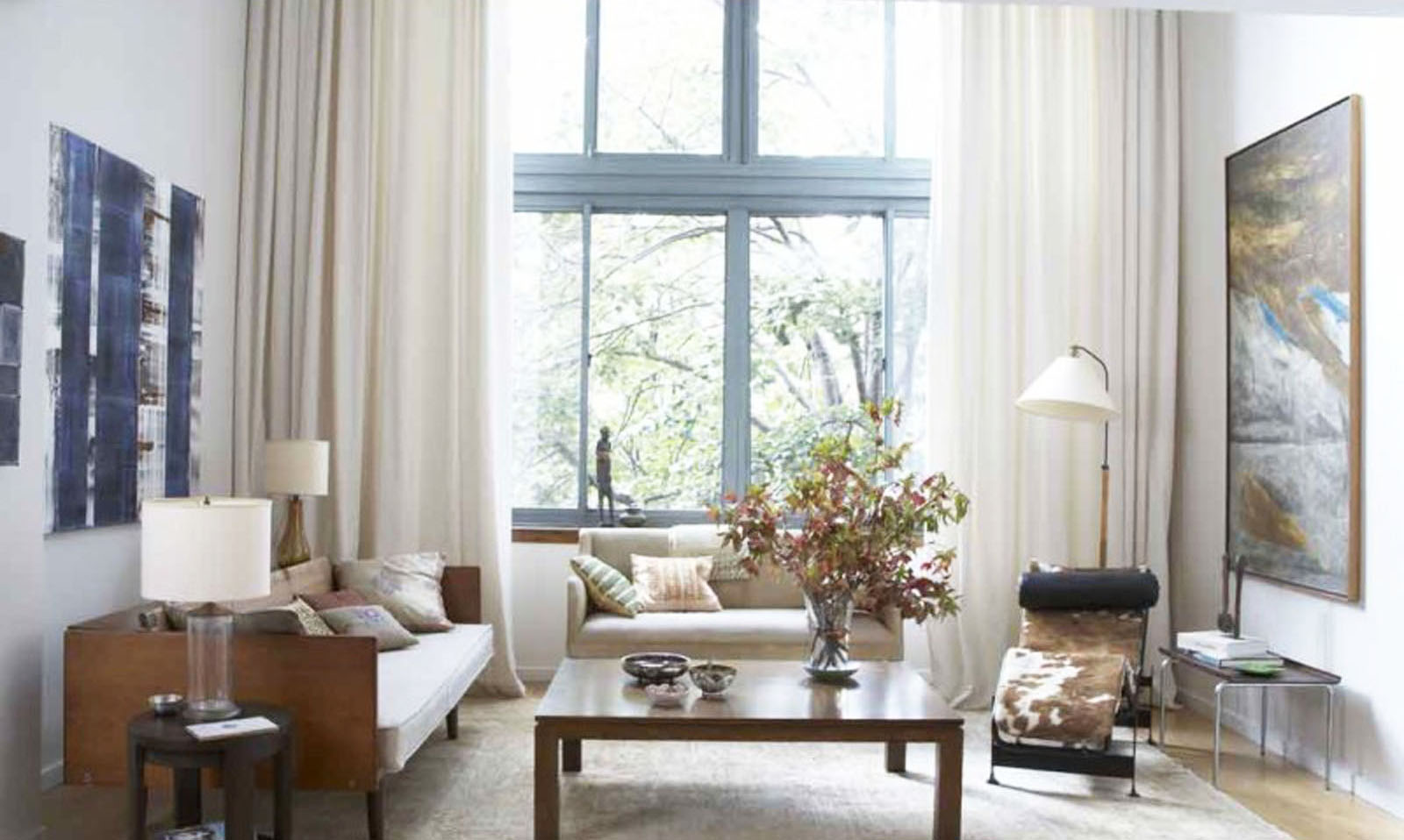 small-space-living-room-with-best-interior-paint-colors-with-living-room-colors-schemes-and-big-window-design-and-luxury-curtain