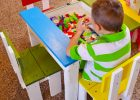 Diy Small Pallet Chair For Kids Pic Simple Kid39s Table And Chai