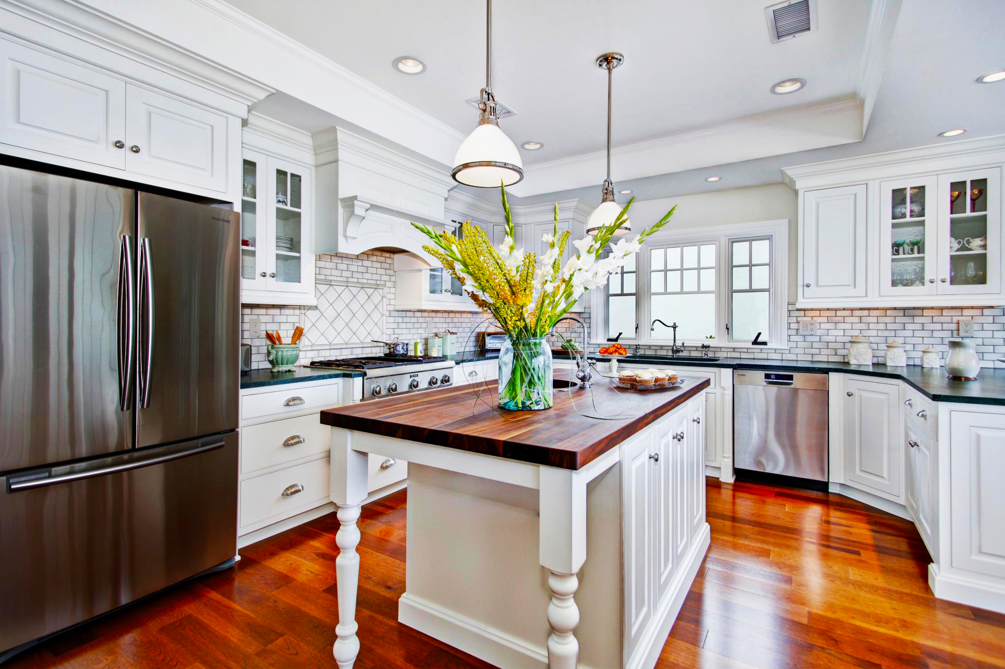 custom-kitchen-cabinets-doors-refacing-with-white-custom-kitchen-cabinets-and-pendant-light-kitchen-decor-also-white-oak-kitchen-island