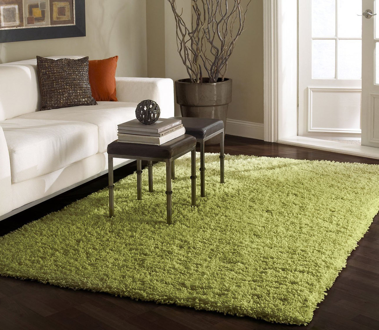 Green rugs for living room green rugs bring in nature s for Modern living room green