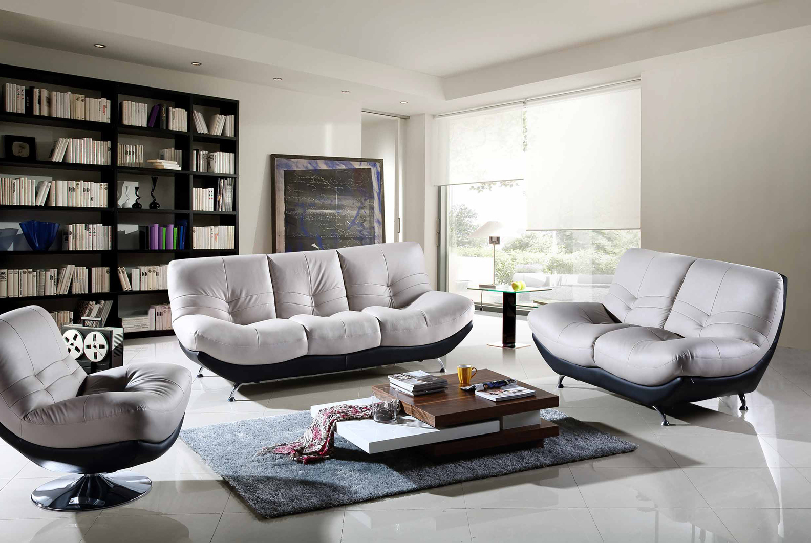 awesome black white modern couch living room sets arrangements ideas