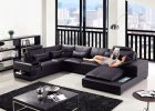 awesome living rooms with modern black leather sectionals and loveseat furniture design